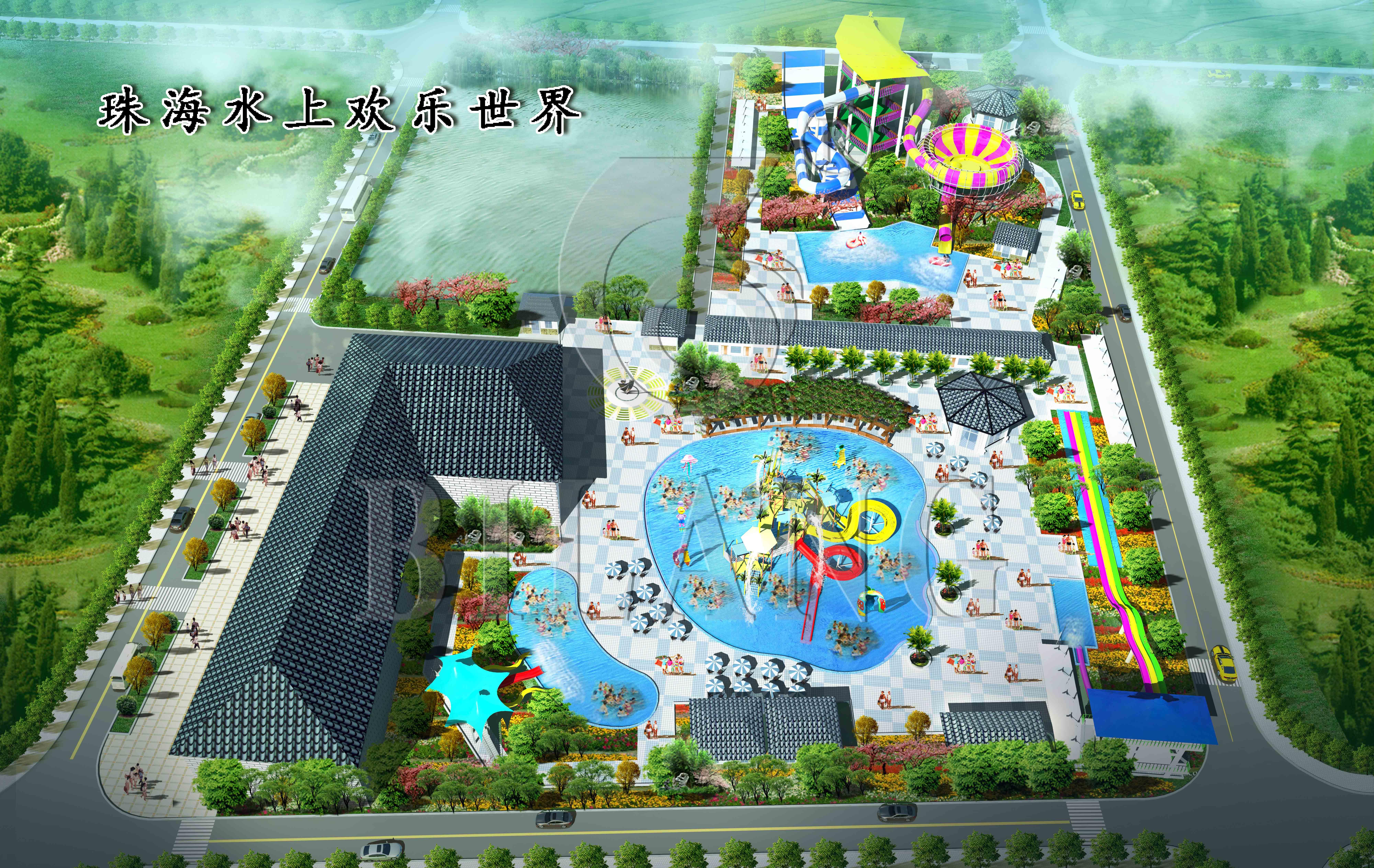 珠海桂山村平面图